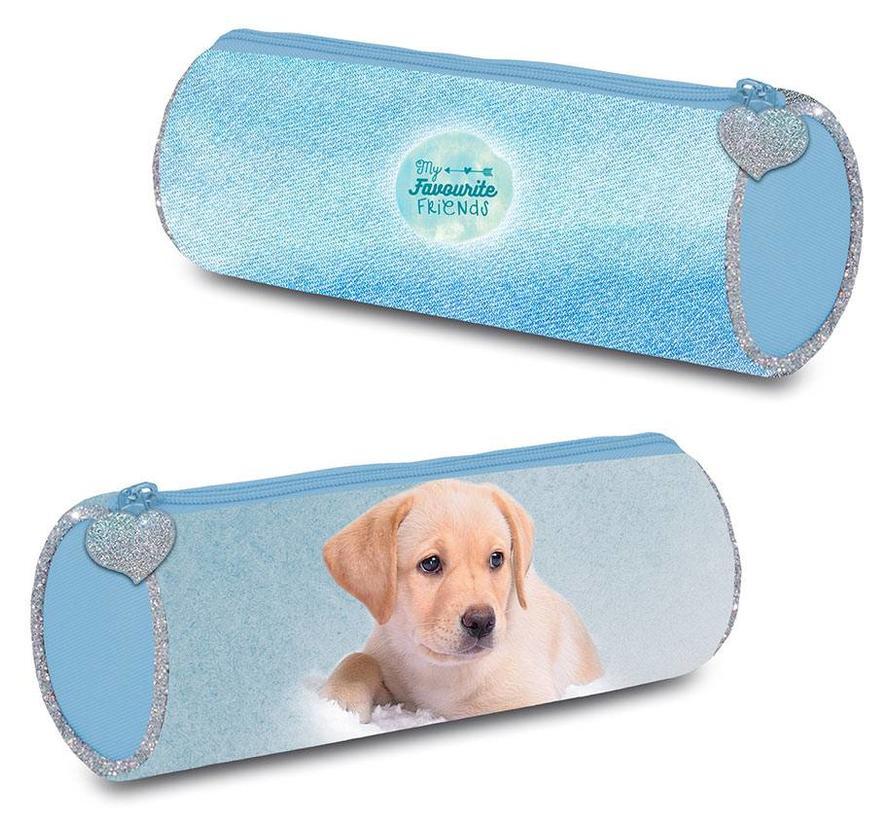Etui hond blauw