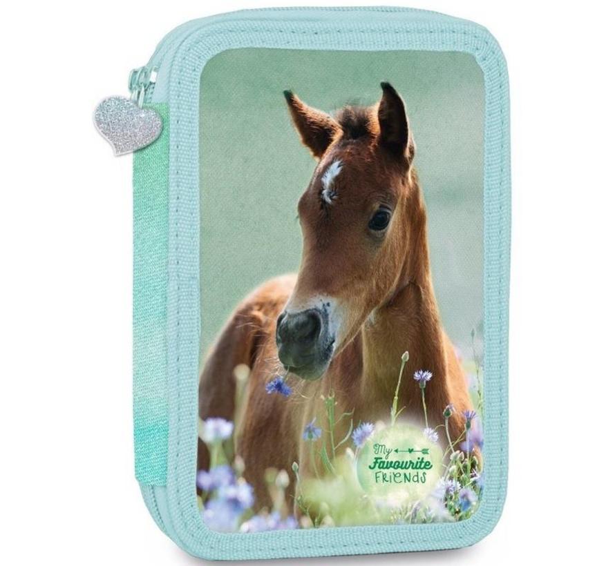 Etui paard groen gevuld