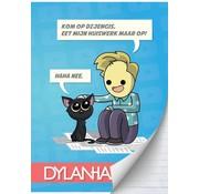 Dylan Haegens A4 lijntjes schrift - team kat