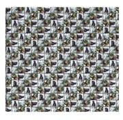 Amazone Kaftpapier  paarden - blauw