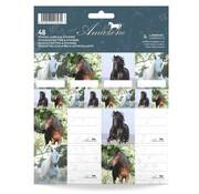 Amazone Paarden etiketten - blauw