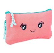 Bubble cute Make-up bag / etui groot - roze