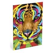 Wild A4 lijntjes schrift tijger