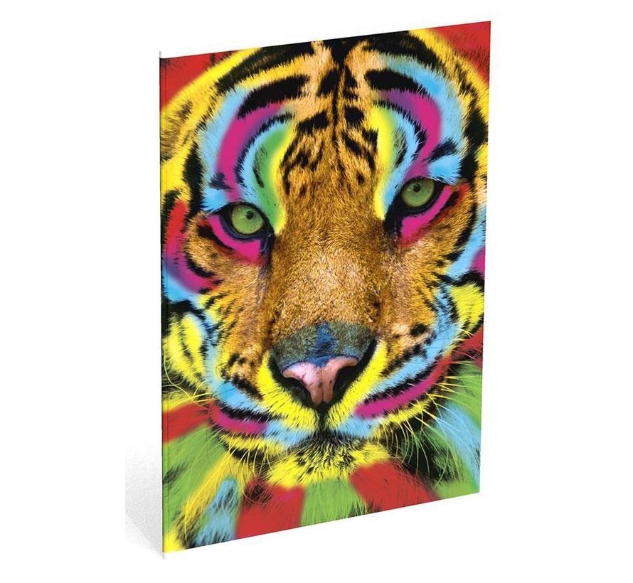 A4 schrift gelinieerd tijger