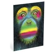 Wild A4 ruitjes schrift aap