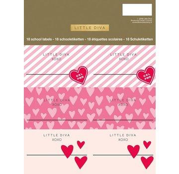 f00d00d79f9 Little Diva Etiketten roze