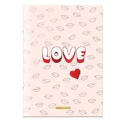 Little Diva A4 ruitjes schrift love