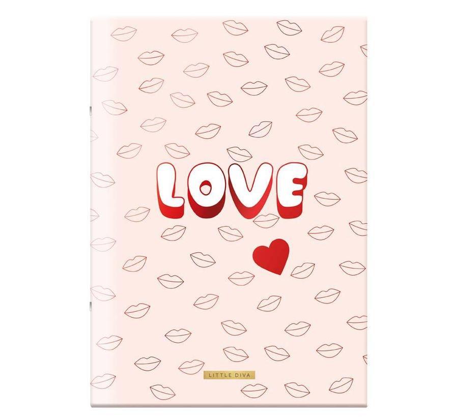 A4 schrift geruit love