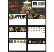 Emoji Etiketten drol