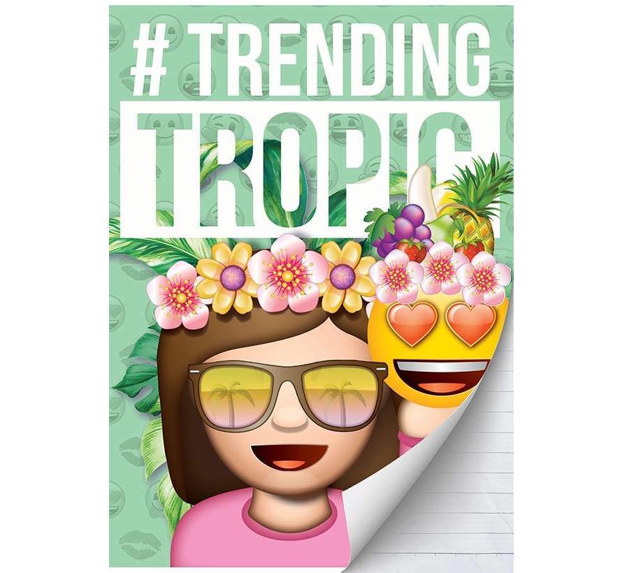 A4 schrift gelinieerd girls - tropic