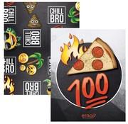 Emoji A5 schriften boy's pizza