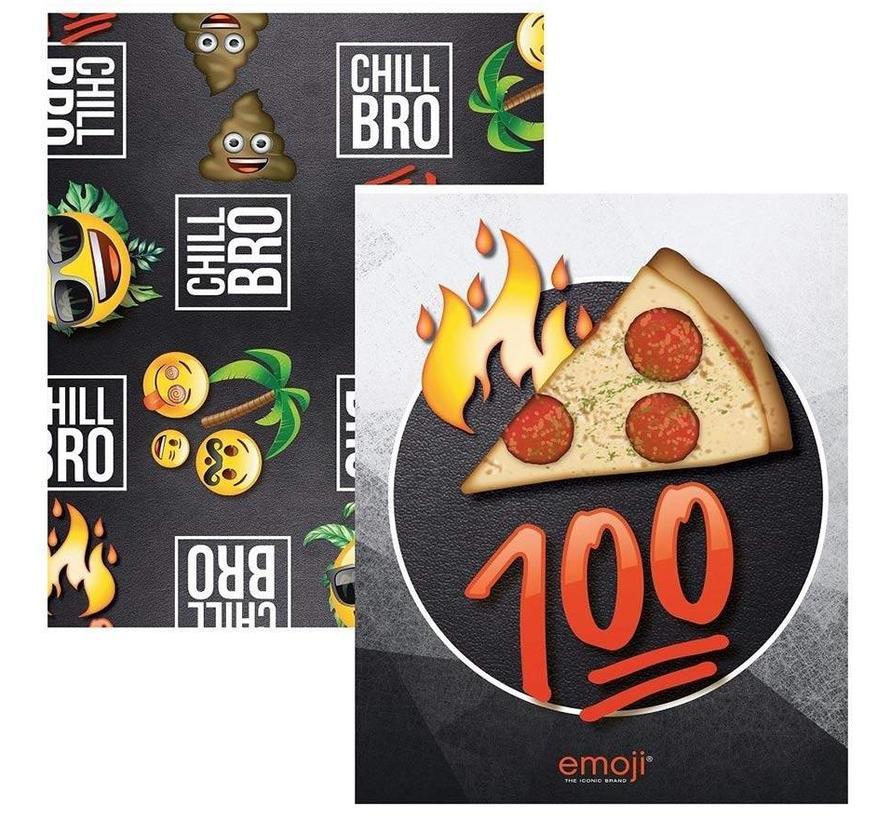 Boy's A5 lijntjes schriften - pizza