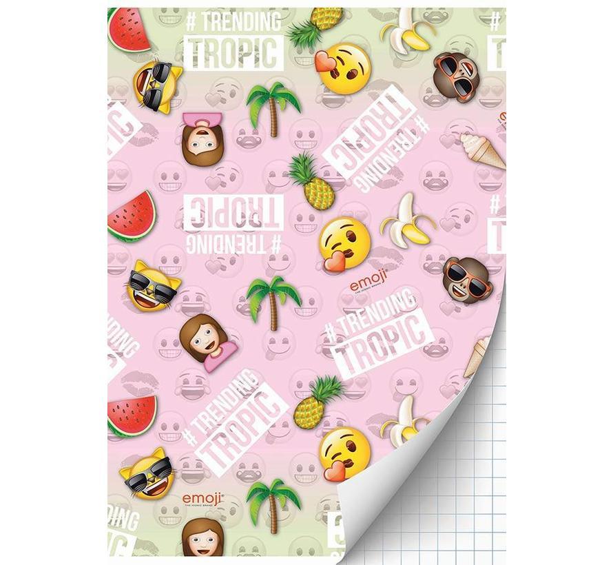A4 schrift geruit girls - tropic