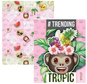 Emoji Girls A5 schriften-  tropic