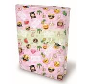 Emoji Girls rekbaar kaft A4 - tropic
