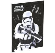 Star Wars A4 lijntjes schrift zwart