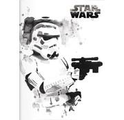 Star Wars A4 lijntjes schrift wit