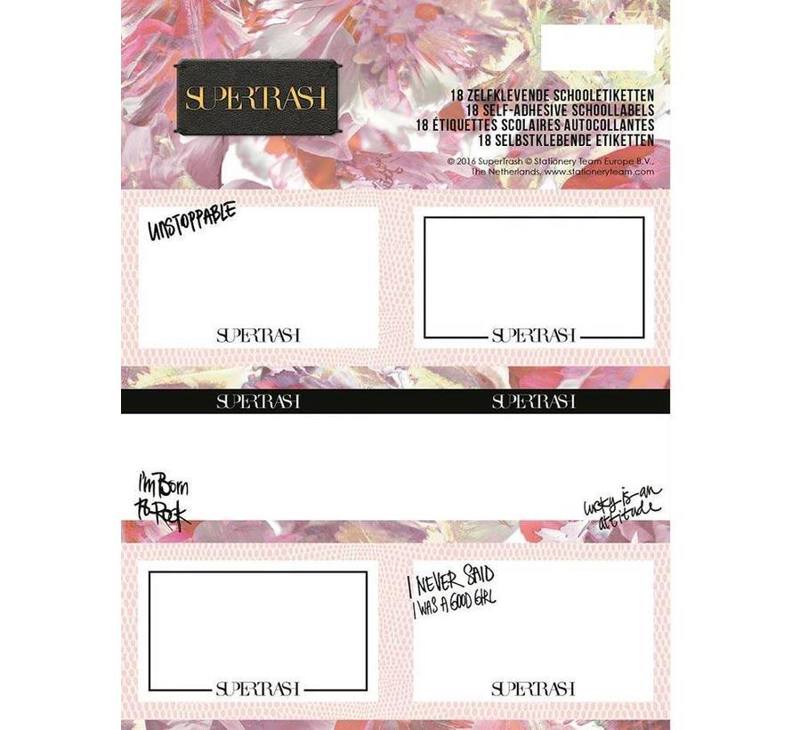 Etiketten roze