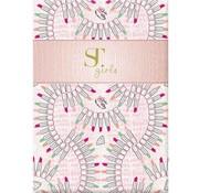 Supertrash A4 ruitjes schrift roze