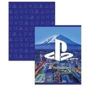 Play Station A5 schriften blauw