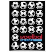 Voetbal international A4 lijntjes schrift - zwart