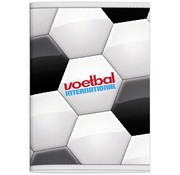 Voetbal international A4 ruitjes schrift - voetbal