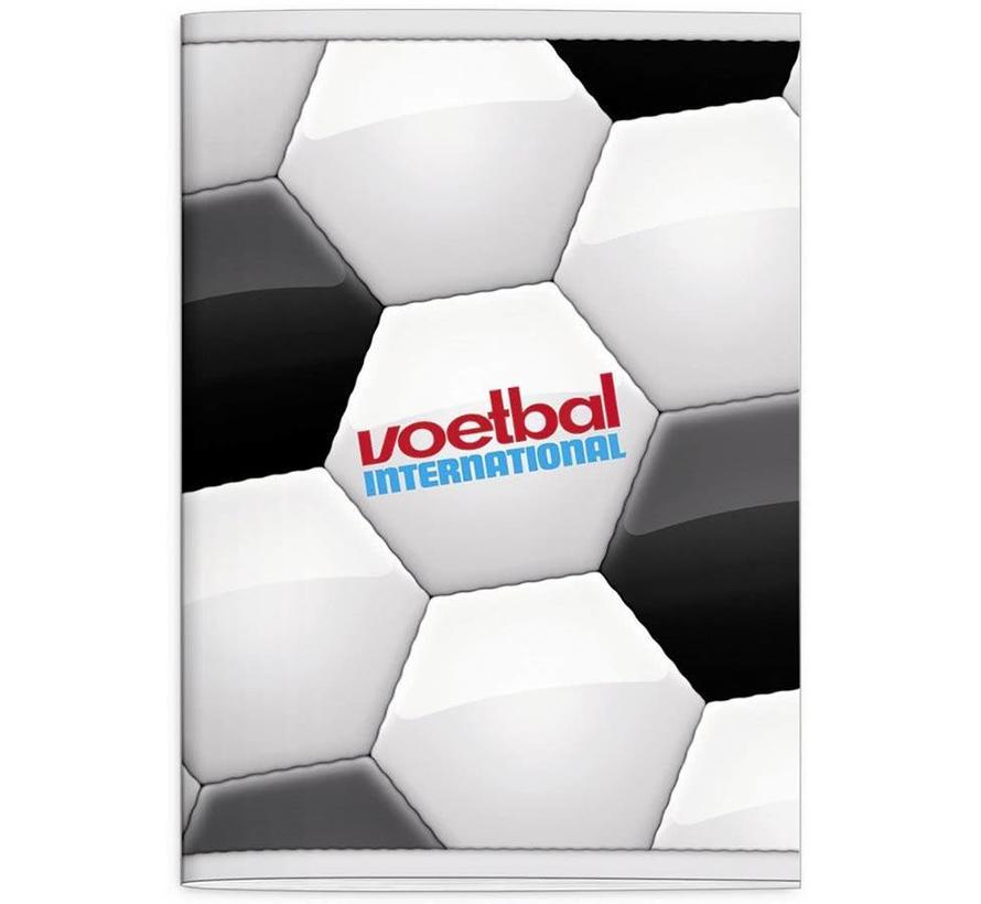 A4 schrift geruit - voetbal