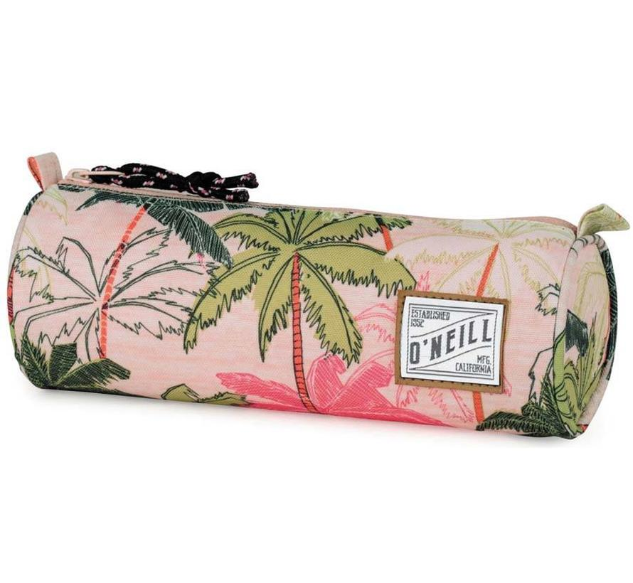 Girls rond etui roze palm
