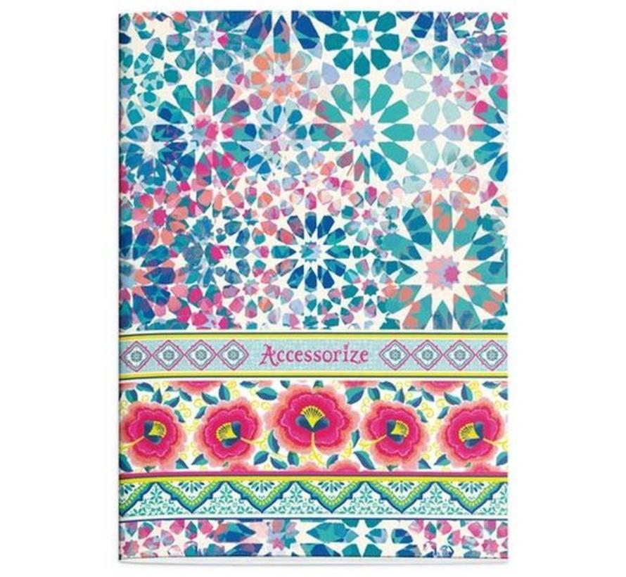 Fashion A4 schrift gelinieerd - flowers