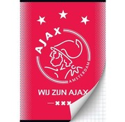 Ajax Amsterdam A4 ruitjes schrift - wij zijn