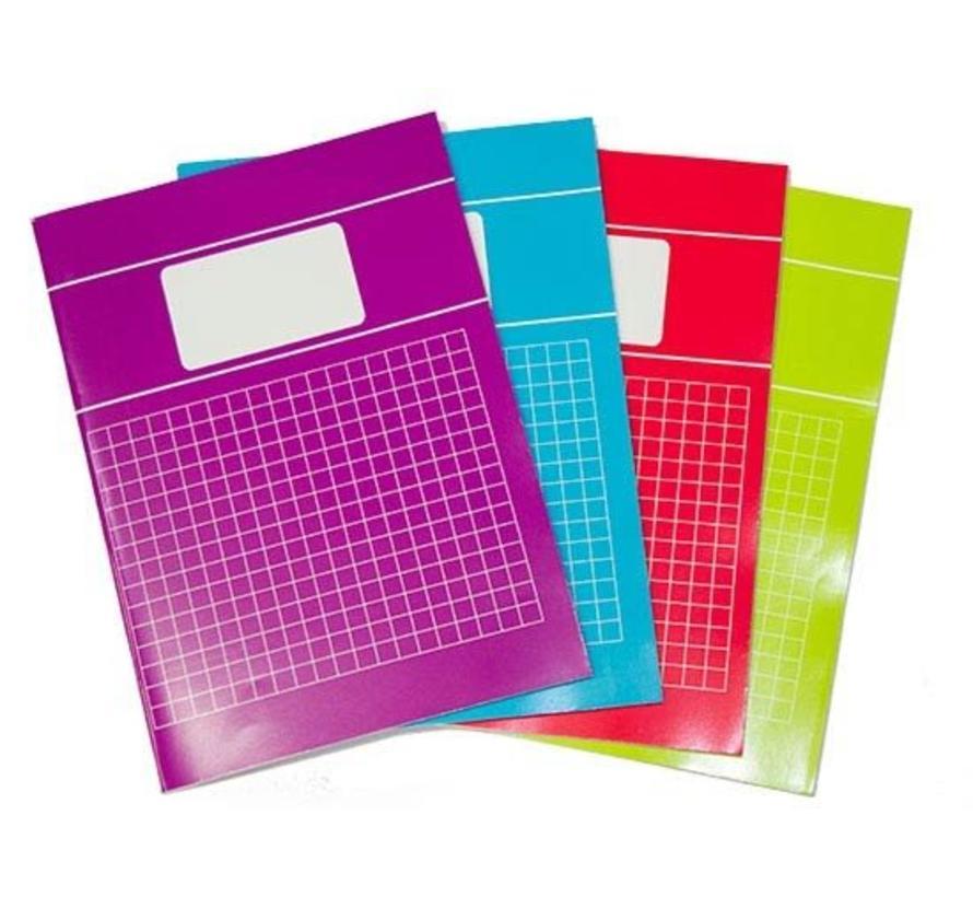 10mm Ruitjes schrift A4 - voordeelpak