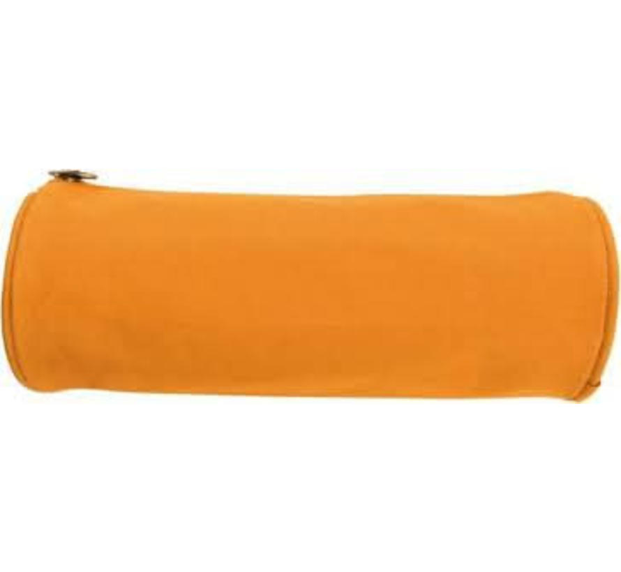 Oranje ronde schooletui