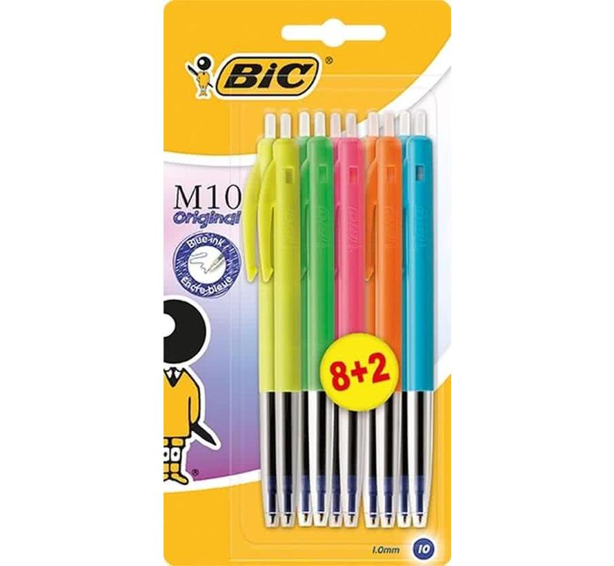 Bic colors M10 balpennen schrijfkleur blauw