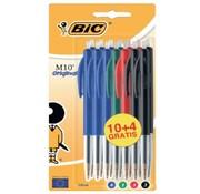 Bic M10 balpen assortiment 10+4 - kleur