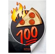 Emoji Boy's A4 ruitjes schrift - pizza