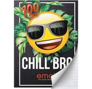 Emoji Boy's A4 lijntjes schrift - Chill