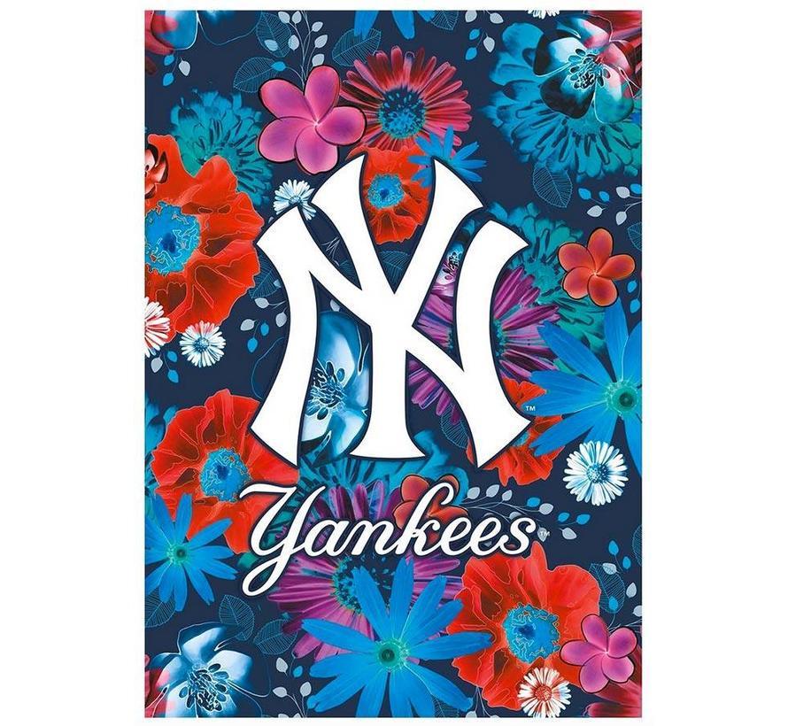 MLB Flowers A4 schrift gelinieerd