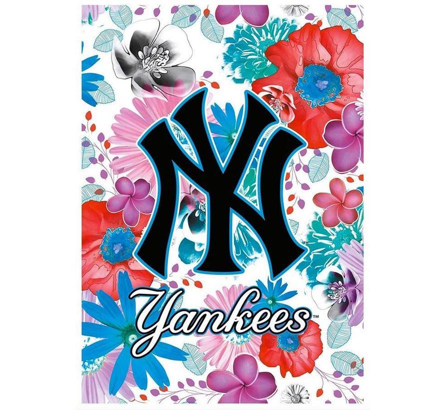 MLB flowers A4 schrift geruit