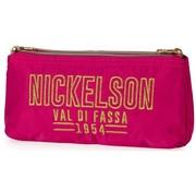 Nickelson Schooletui dubbel - roze