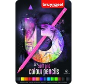 Bruynzeel Teens kleurpotloden - roze 12st