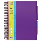 Trend Projectboek A4 paars