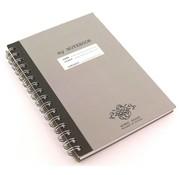 Kraft A5 notitieboek - kraft grijs