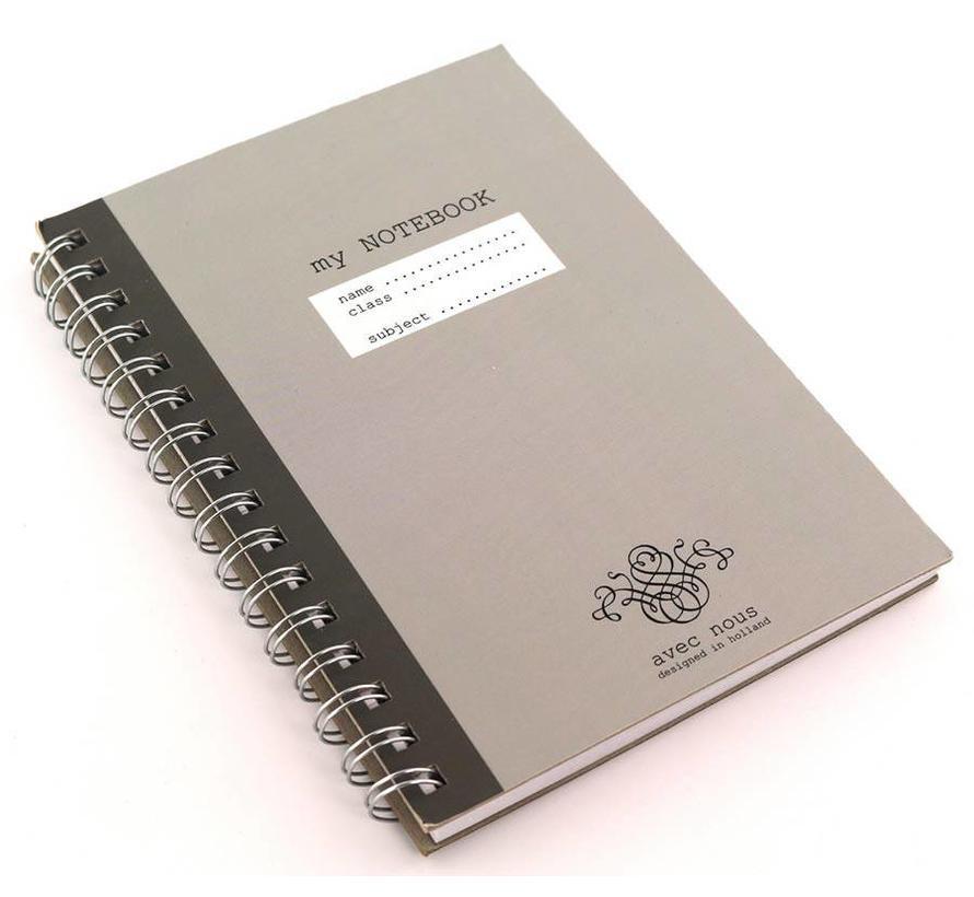Grijs A5 kraft notitieboek