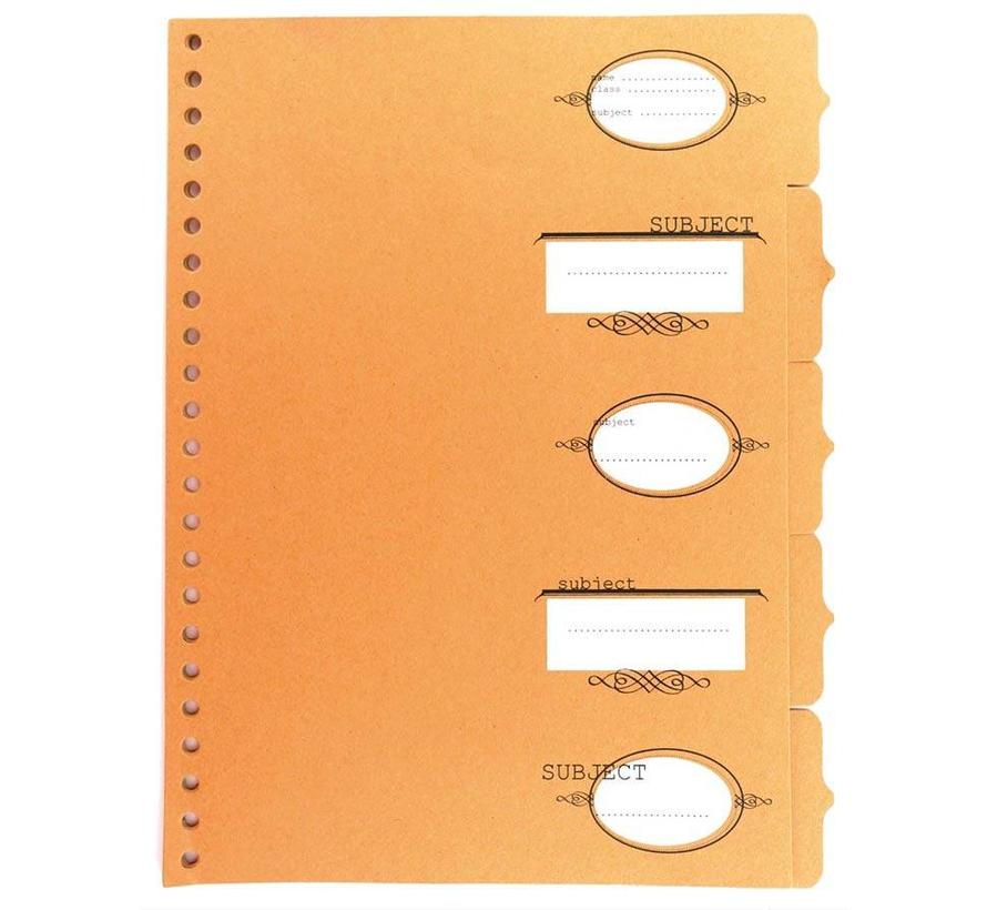 Kartonnen tabbladen kraftpapier