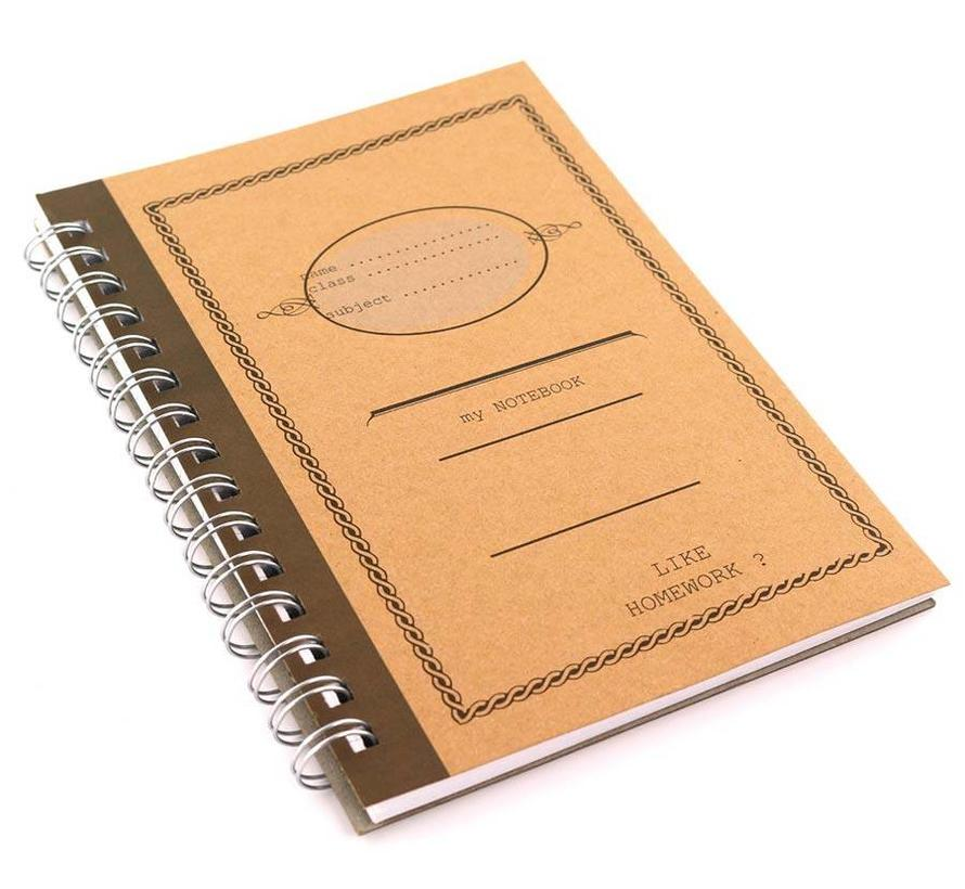 Bruin A5 kraft notitieboek