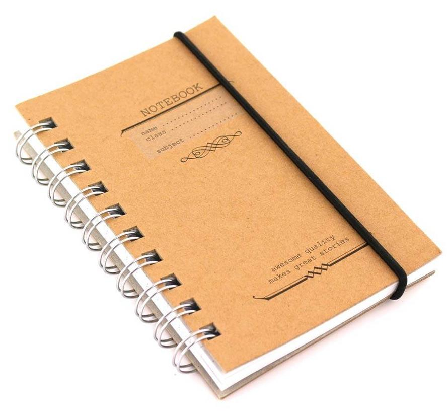 Compact bruin kraft notitieboek