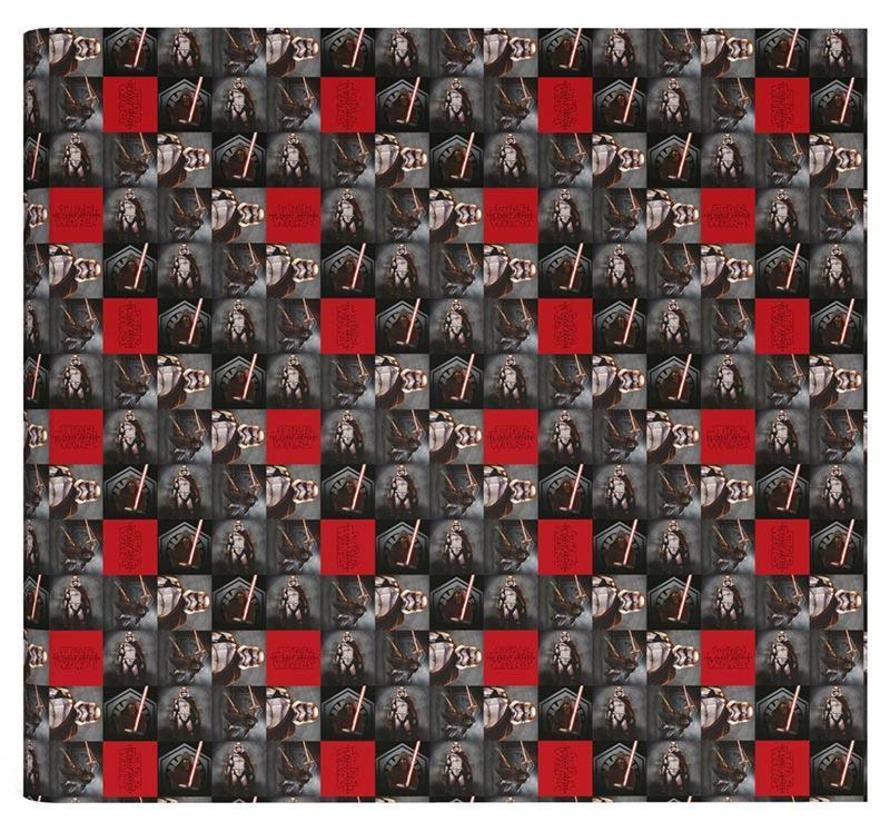 Kaftpapier zwart / rood