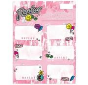 Replay Girls etiketten  - roze