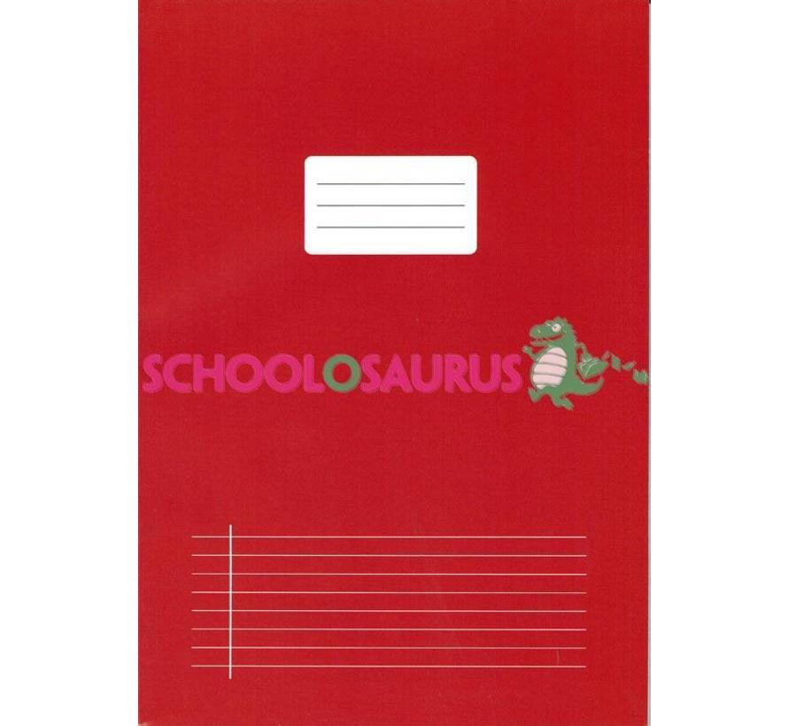 Rood lijntjes schrift A4