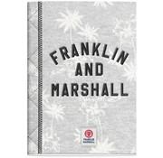 Franklin & Marshall A4 ruitjes schrift lichtgrijs